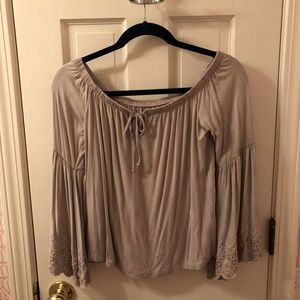 AE Lavender Off the Shoulder Top
